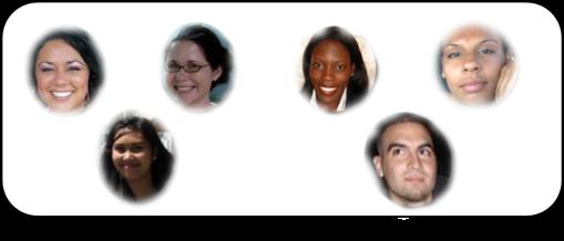 FTC Officers (L to R top row): Terry Leach—President, Dana Hratko—Vice-President, Tanisha Gabriel—Treasurer, Aaimee Maestre-Secretary, (L to R bottom row) Patricia Noelle Cruz—Historian, SaulPacheco—Webmaster